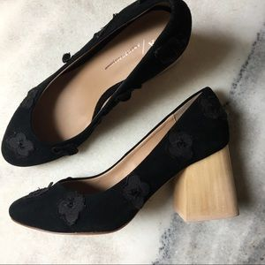 Anthropologie Coming Up Roses Block Heels